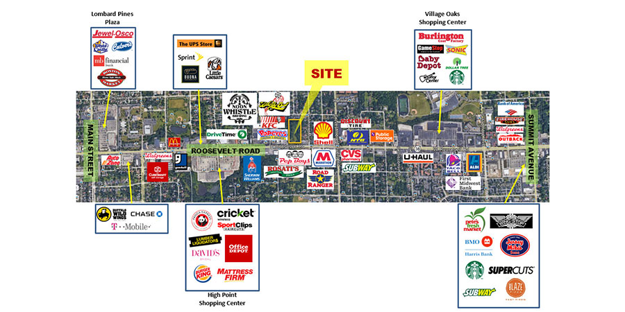 Lombard - 5+/- Acre Retail Development Site